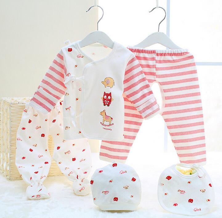 b9b6c6cb73ea Wholesale- Newborn Set Baby Clothing Cotton Baby Sets Girls Boys ...