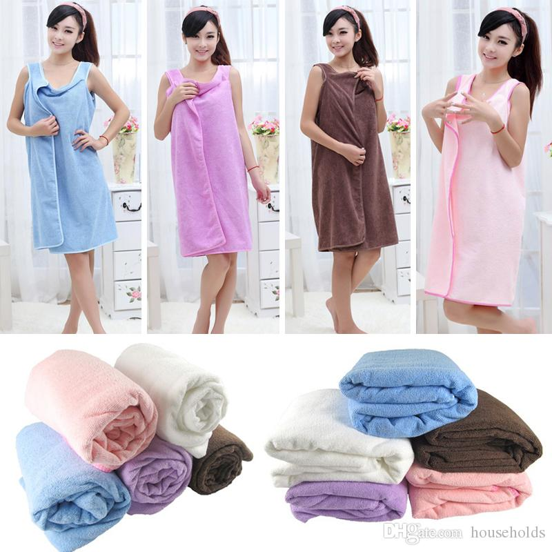 51e463c2d2 Ladies Fashion Bath Wear Towels Woman Wearable Fast Drying Magic Bath Towel  Beach Spa Bathrobes Bath Skirt Custom Beach Towel Personalized Towel From  ...
