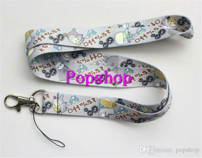 NEW Grey My Neighbor Totoro Anime Neck Lanyard Multicolor Phone Accessories Cell Phone Camera Neck Straps Lanyard Gifts