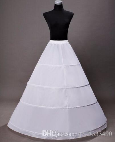 Sottogonne a cerchio lungo abiti da sposa Sottogonna donna 2016 crinolina bianca jupon sottogonna