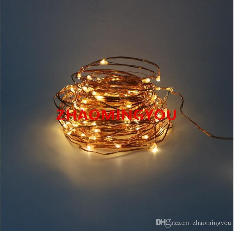 LED String Light 10M 100led Fil De Cuivre Fairy Light Lumière De Vacances En Plein Air DC 12V Pour Le Mariage De Mariage Avec Télécommande