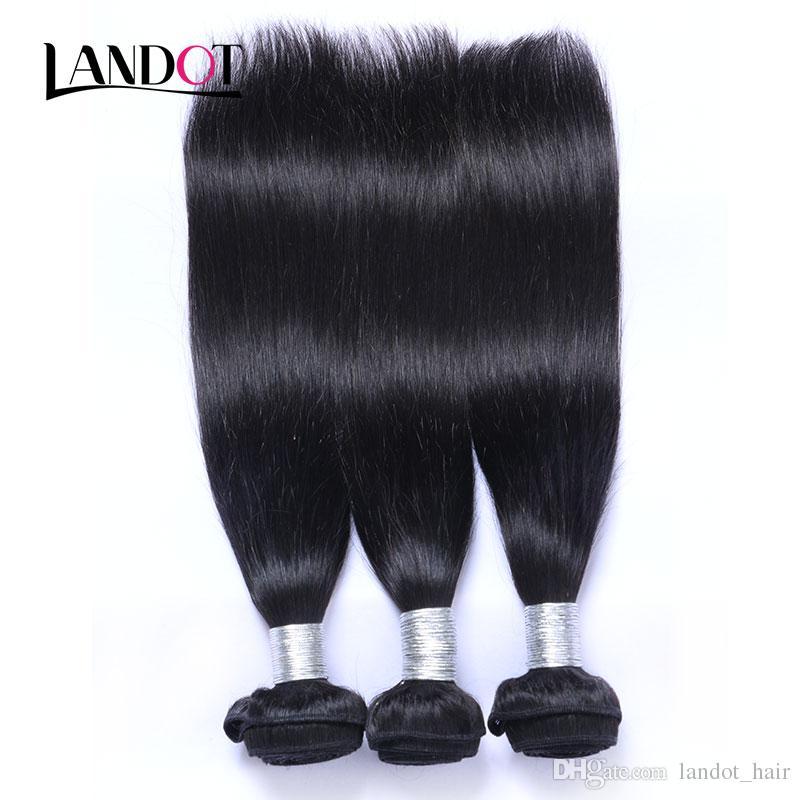 100% Virgin Human Hair Weaves Bundles Brasiliano peruviano malese indiano indiano Cambodiano russo Euroasian Euroasian Filippino Dritto remy estensioni dei capelli