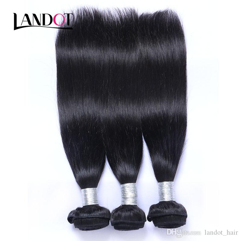 Русские прямые волосы девственницы 3шт необработанные русские человеческие волосы плетение пучки натуральные черные шелковистые прямые ременные наращивания волос двойной уток