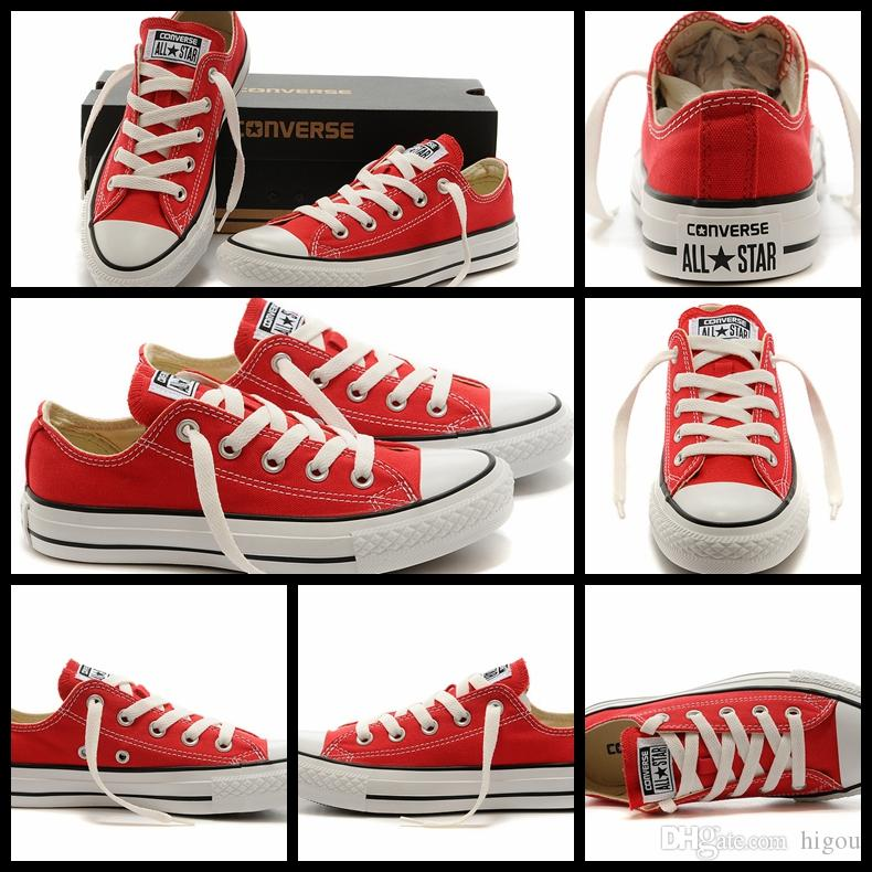 New Converse Chuck TayLor All Star Core Red Shoes Low Top For Men Women  Fashion Casual Canvas Shoes Converses Sneakers Run Classic Shoe Sports  Shoes Mens ... 633203eeca81