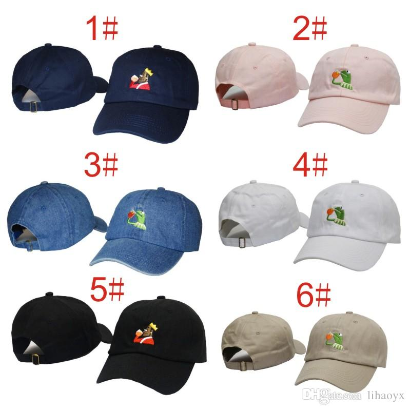 6f0a5223e84 2017 New 12 Kinds Of Wind Qimi Tea Hat Frog Embroidered Tea Baseball Dad  Sunny Hat Expression New Popular Men And Women Hat DHL Free Shippin  Embroidered ...