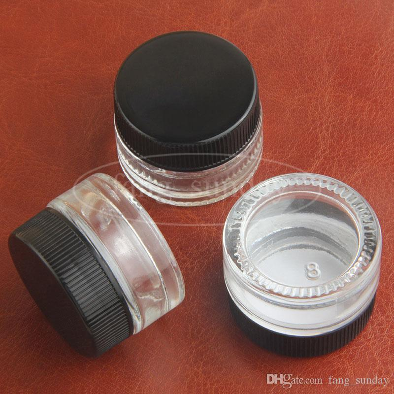 Jar Food Grade Non-Stick Glass Container Cera Dab Oil 5ml Dabber secco Herb concentrato Contenitori CIGS Cigarette Cosmetici