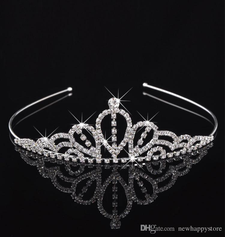 High-end Nupcial Coroas Design Para Festa de Casamento Ocasião Formal Branco Tiaras Acessório de Cabelo Cristais Coroa Cabelo Jóias