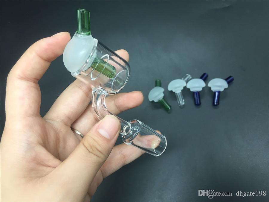 Pas cher coloré Nouveau style universel UFO verre capuchon de carb en verre pour Double Tube Quartz Ongles Conseils thermique P Banger verre plate-forme pétrolière bongs