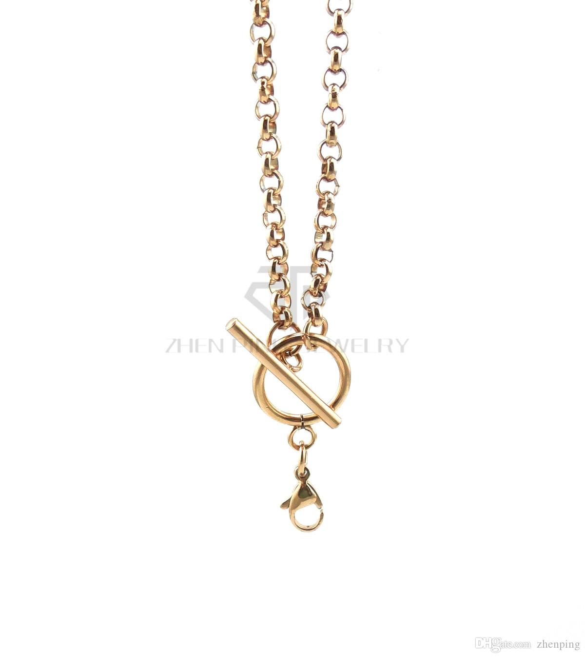 silver 4mm rolo chain 14-24 inch can be choose stainless steel rolo chain with toggle and lobster clasp