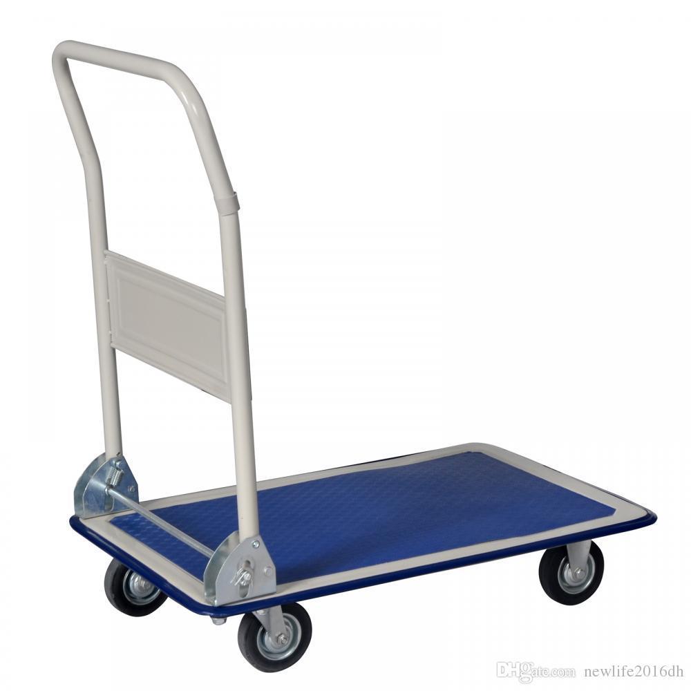 d2109a0a0c3d 330lbs Platform Cart Dolly Folding Foldable Moving Warehouse Push Hand Truck