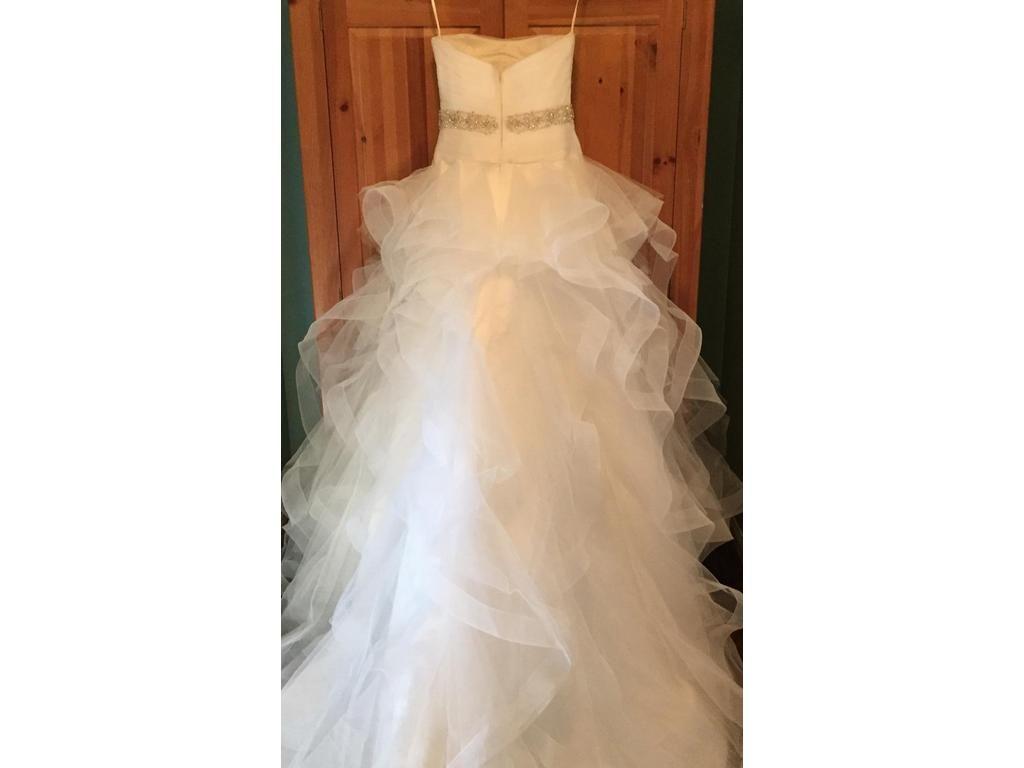 2017 Real Made Tulle Vestido Straplesss vestido de Baile Caiu Organza Da Cintura Tule Plissado Plissados Vestidos de Casamento Robe De Mariee Vestido COR-583