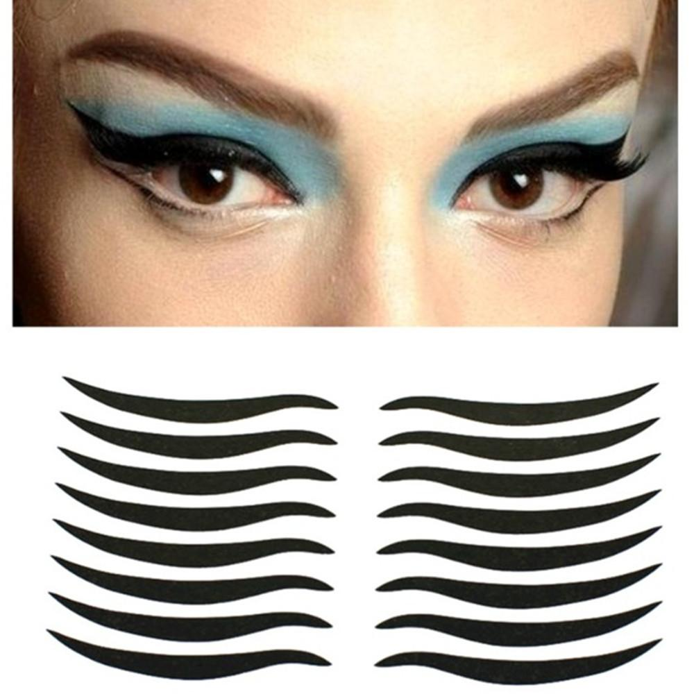 Wholesale- Double Eyelid Adhesive Tape Temporary Eyeliner Eyeshowder Stickers 16 Pcs Invisible Strips Decal Makeup