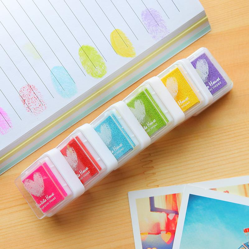 Wholesale Fingerprint Stamp Pads Diy Diary Albums Essential Inkpad Drawing Tools Fun ChildrenS Favorite Toys E0 Postage Stamps Rate International