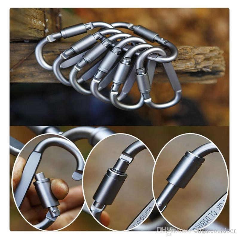 Outdoor Carabiner Durable Climbing Hook Aluminum Camping Accessory Carabiner Clip Key Chain Camp Snap Clip Hook Keychains