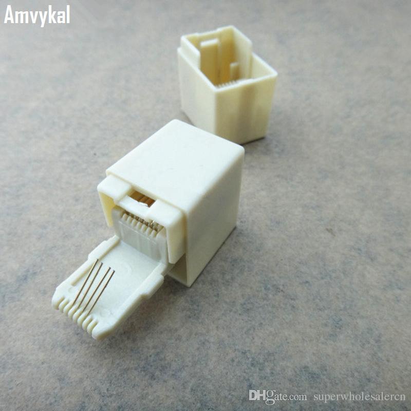 高品質電話ケーブルエクステンダモジュラープラグ6P4C 6P2C RJ11 RJ45 8P8C CAT5 CAT6コネクタケーブルジョイナー拡張コンバーターカプラー