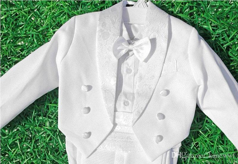 Jungen Anzüge für Hochzeiten Kinder Prom Anzüge Schwarz / Weiß Hochzeit Anzüge für Jungen Smoking Kinder Kleidung Set Junge Formelles Kostüm