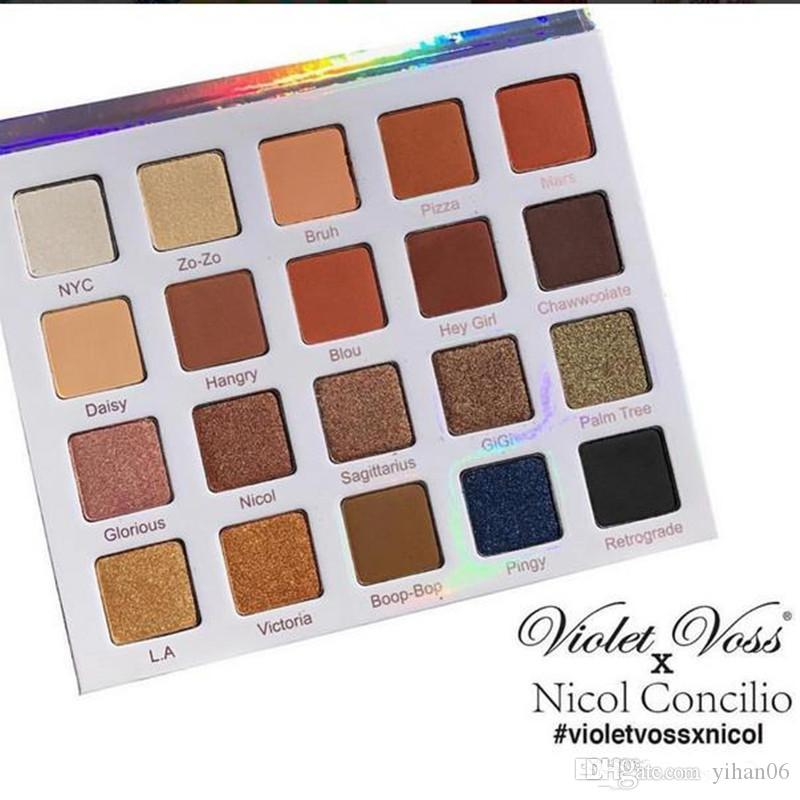 2017 NEW ITEMS Makeup Violet Voss Nicol Concilio Pro Eye Shadow white Palette eyeshadow palette
