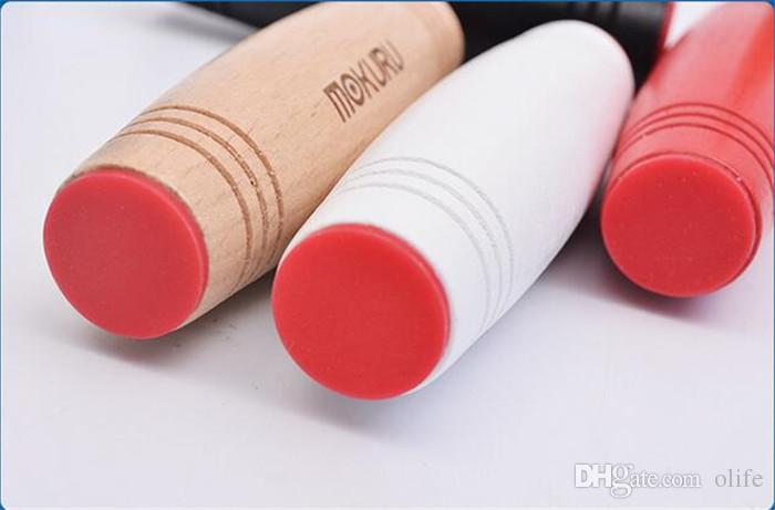 Mokuru Fidget Roller Amazing Desktop Toy Novelty Gag Toys Printing Wood Beech Plaything Stress Reliever Decompression Toys with logo DHL
