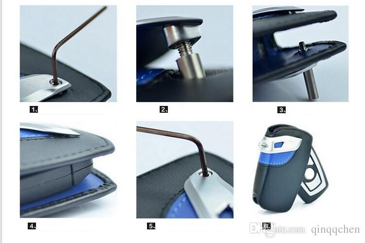 5 cores tampa da chave do carro de couro genuíno caso chave do saco para bmw f10 x6 x1 x3 x4 x5 116i 118i 320i 316i 325i 330i e90 m3 m3 f20 f30 530i