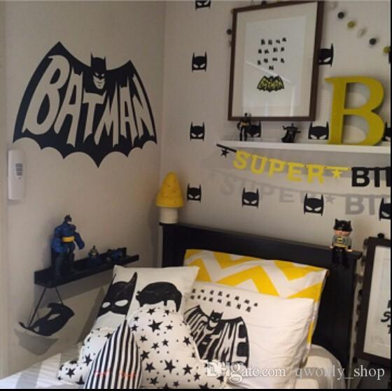 Super Hero Batman Mask Wall Stickers Baby Nursery Children Bedroom Removable Wall Decals Home Décor DIY Vinyl Decal