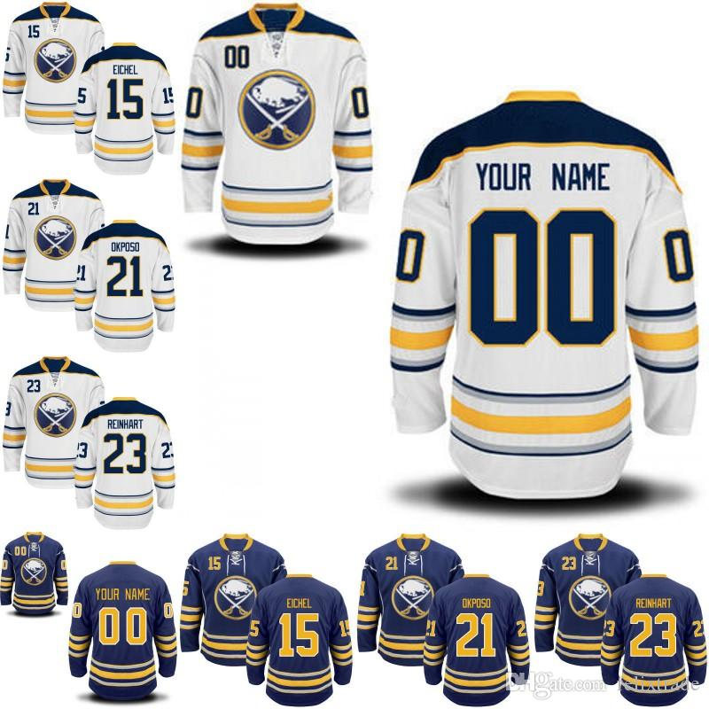 reputable site ee699 aaa0e Mens Youth 2017 Buffalo Sabres Custom Jerseys 22 Johan Larsson 26 Matt  Moulson 67 Benoit Pouliot 95 Justin Bailey Hockey Jerseys
