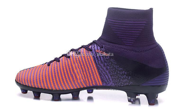 Venta al por mayor de Mercurial Superfly V FG Zapatos de fútbol, descuento barato CR7 Vitórias Training Running Soccer Tacos, 2017 nuevos mens Club Football Boots