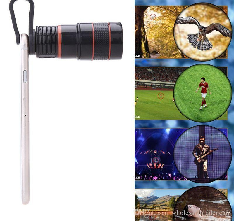 Telescope Lens 8x Zoom Unniversal Optical Camera Telephoto Len With Clip For Iphone Samsung HTC Sony LG Mobile Smart Cell Phone