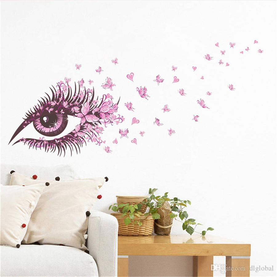 Sexy girl eyes butterfly wall stickers living bedroom decoration sexy girl eyes butterfly wall stickers living bedroom decoration diy home decals mual poster girls room decor window wall stickers winnie the pooh wall amipublicfo Images