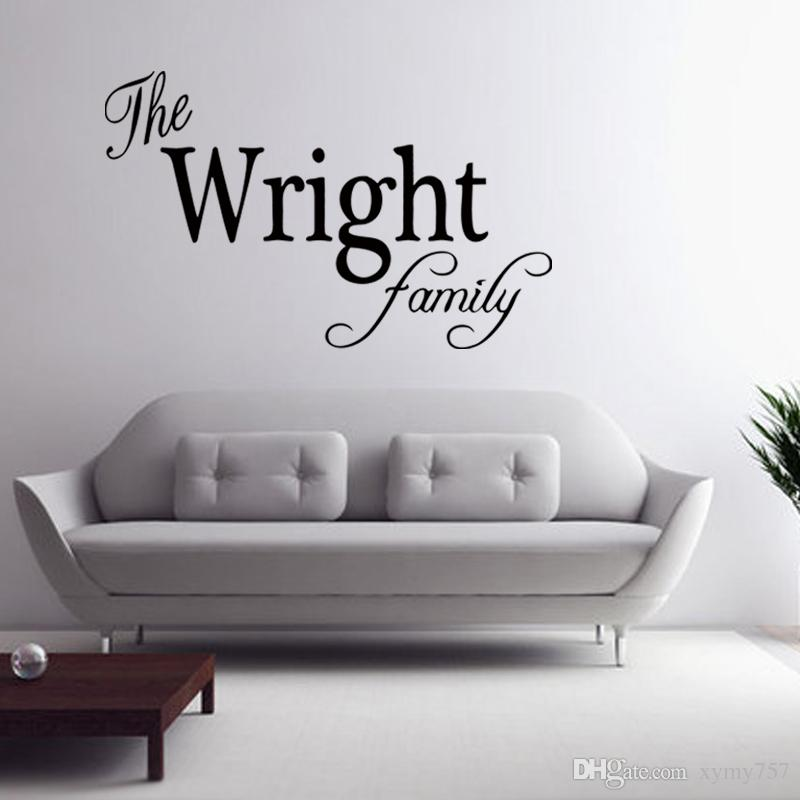 Personalized Family Name Wall Art Vinyl Decal Removable Sticker Decor Custom Family Bedroom Sitting Room Diy