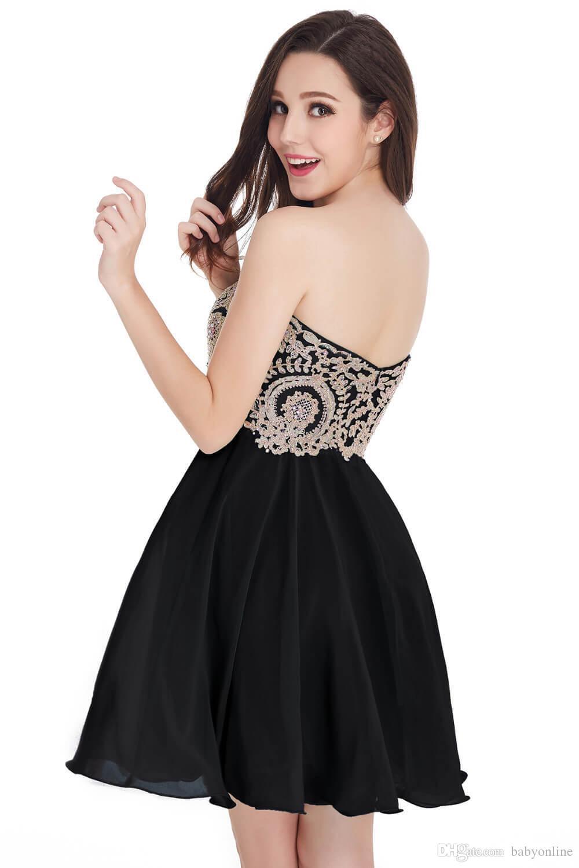 Ucuz In Stok Mezuniyet Elbiseleri 2019 Tasarımcı Durum Elbise Sevgiliye Kısa Kokteyl Parti Balo Abiye% 100 Gerçek Görüntü CPS406