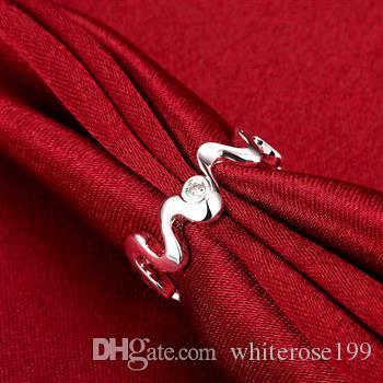 도매 - 소매 최저 가격 크리스마스 선물, 무료 배송, 새로운 925 실버 패션 반지 yR029