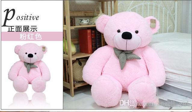 Hot Sale 100 Cotton DARK Brown Giant 100cm Cute Plush Teddy Bear Huge Soft TOY