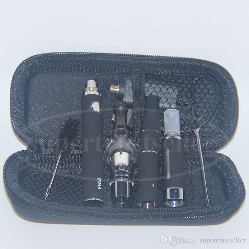 Elektronik Sigara 3 in 1 Vape Kalem Başlangıç Kiti Ile AGO G5 Kuru Ot Buharlaştırıcı Balmumu Cam Küre Tankı Kubbe Eliquid MT3 Atomizer