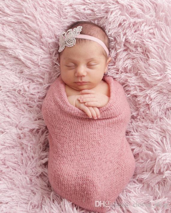 Boutique handgemachte Schmetterlings-Stirnband-Haar-Band für neugeborene Baby-Kind-Mädchen-Haar-Zusätze Headwraps aushöhlen
