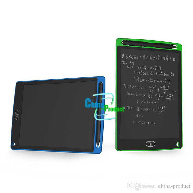 LCD Yazma Tablet 8.5 Inç 12 Inç Memo Beyaz Tahta Çocuklar Elektronik Taşınabilir Tahta Çocuk Çizim Oynayan El Yazısı eWriter Ped
