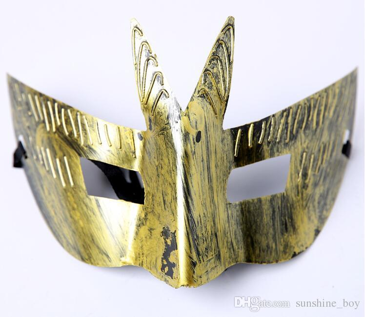 Man Ancient Rome Sir Retro Mask Swallowtail Design Square Eye Party Mask Halloween Masquerade Mask for Male Cosplay Props