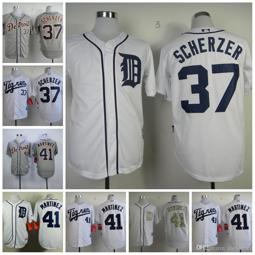 2017 mens detroit tigers jerseys 37 max scherzer 41 victor martinez baseball jerseys flexbase cool b