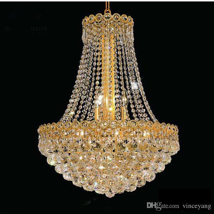 Phube Lighting French Empire Gold Crystal Chandelier Lustre Chrome  Chandeliers Modern Chandeliers Light Lighting 71021 Gothic Chandelier  Entryway Chandelier ...