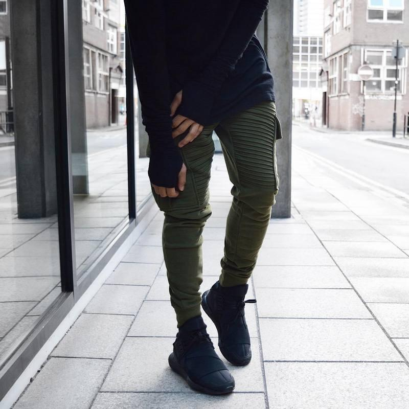 Compre Venta Al Por Mayor Moda Para Hombre Mono Ropa Urbana Fresca  Agradable Afilado Pantalones Deportivos Verde   Negro Jogger M XXXL  Pantalones Joggers ... 1e0dbde935f