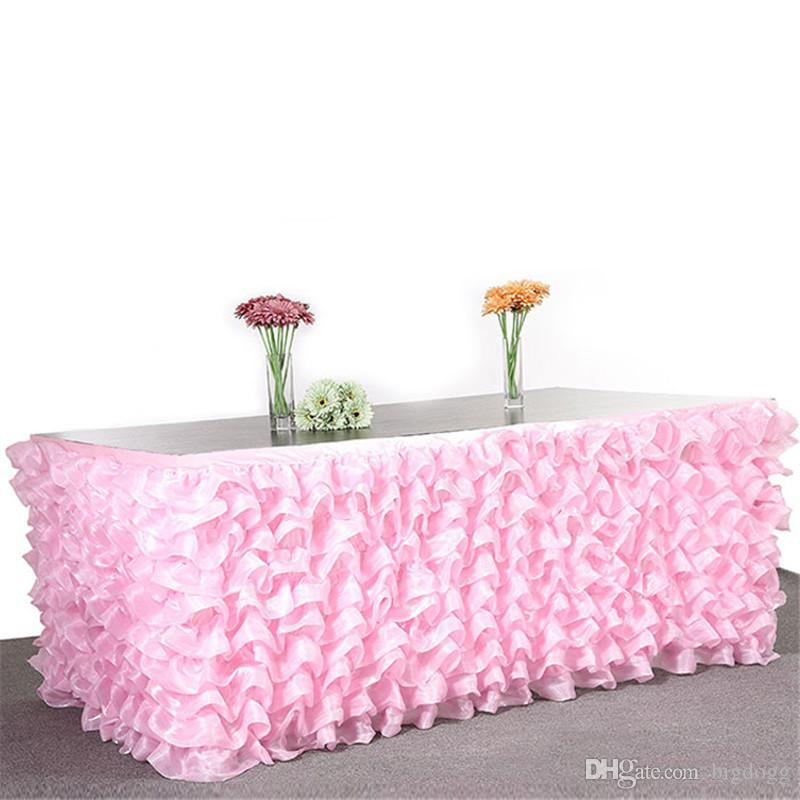 ... High Quality Multi Layers 275x76cm Tulle Wedding Banquet Birthday Table  Skirt Supplies ...