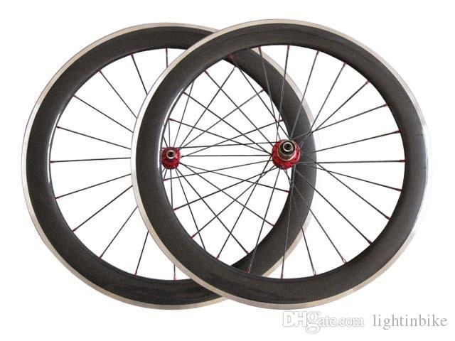 700C 60mm clincher full carbon bike wheel alloy brake,front only 23mm width