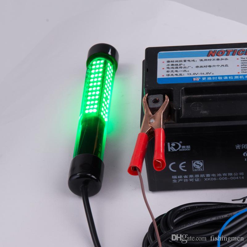 12V LED Vert Pêche Sous-marine Lumière Lumière Bateau De Pêche Lumière Nuit Pêche Leurre De Pêche Pour Attcating Poisson Avec 5 M Fil Câble