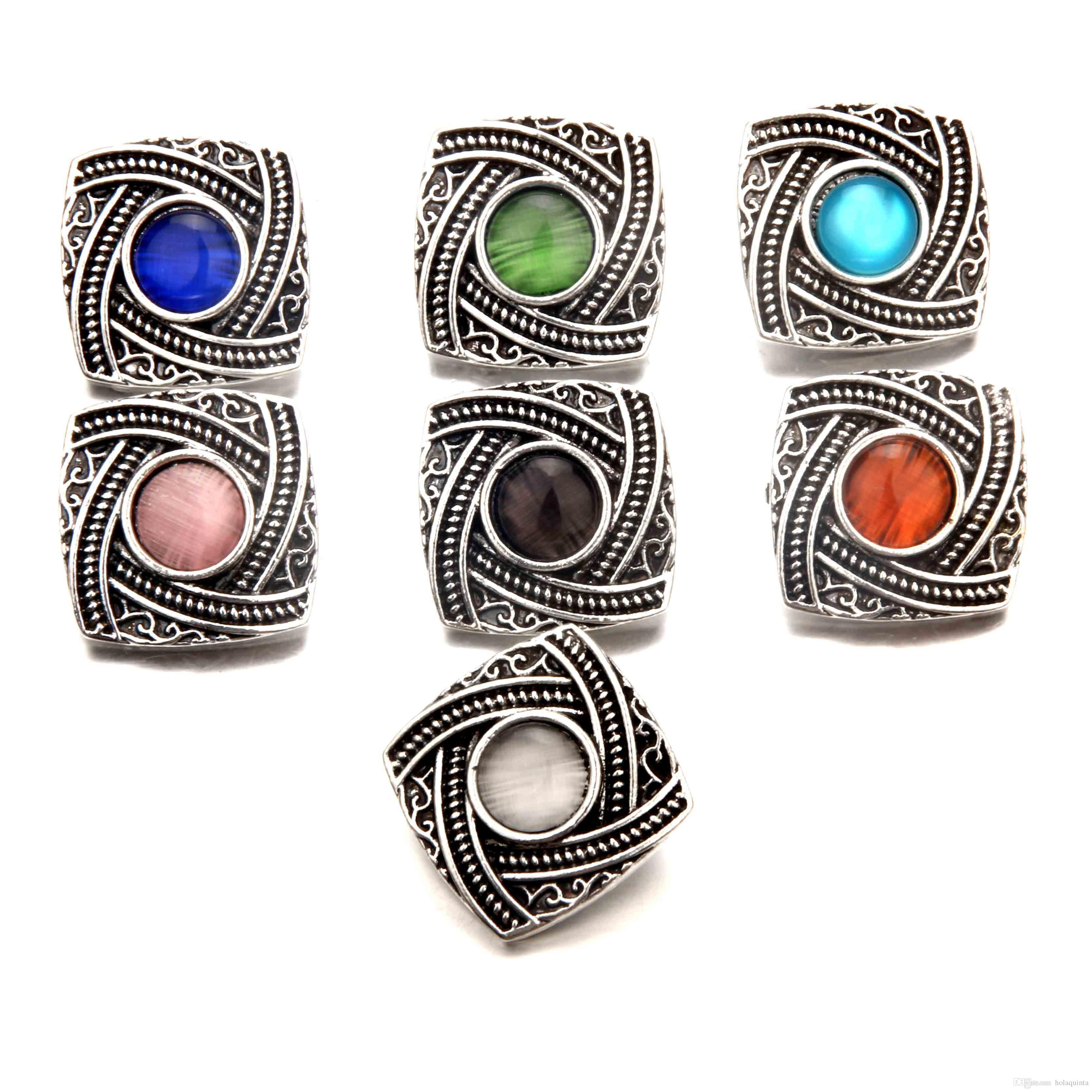 N05 wholesale newest interchangeable snaps noosa chunk bracelet ginger snap buttons women snap jewelry cheap