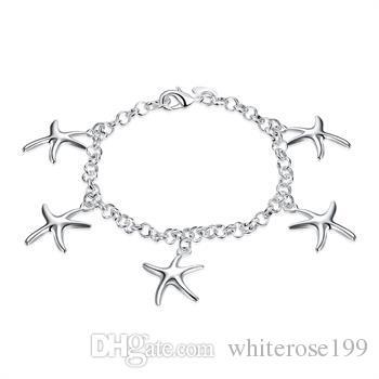 Оптово - розничная низкая цена Рождественский подарок, бесплатная доставка, новый 925 серебряный браслет yb193