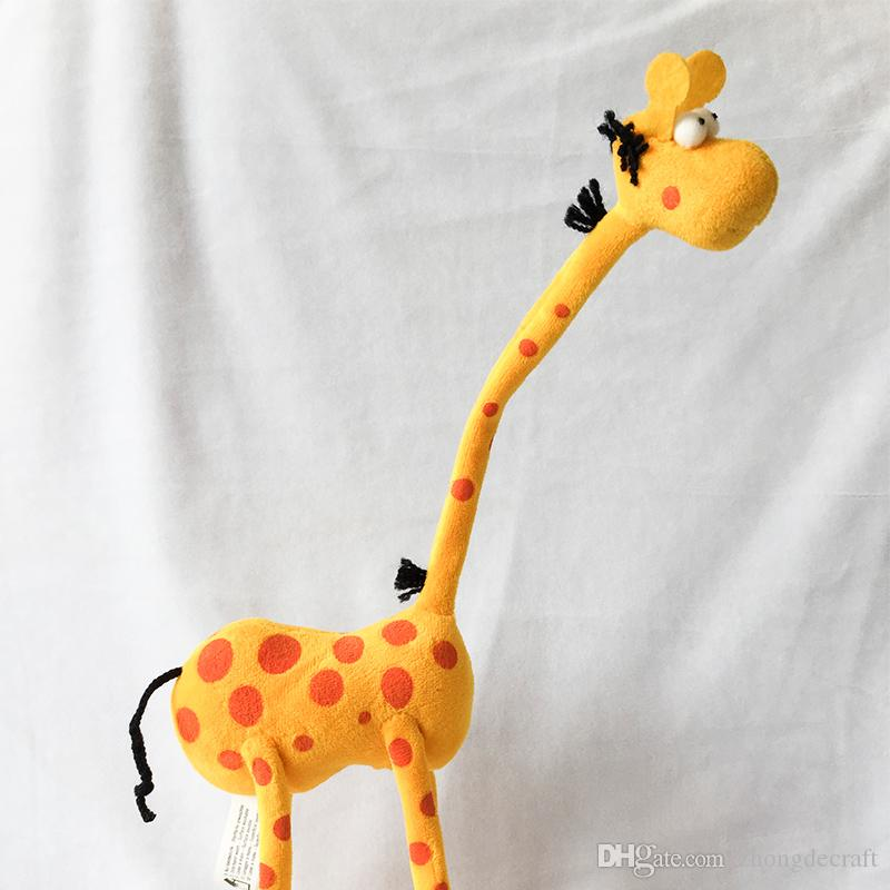 2019 35cm Cute Cartoon Giraffe Plush Toys Stuffed Animals Dolls For