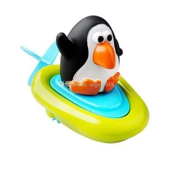 Baby Bath Toy kids wind up water cartoon penguin duck dinosaur Animals Swimming toys for children C2417