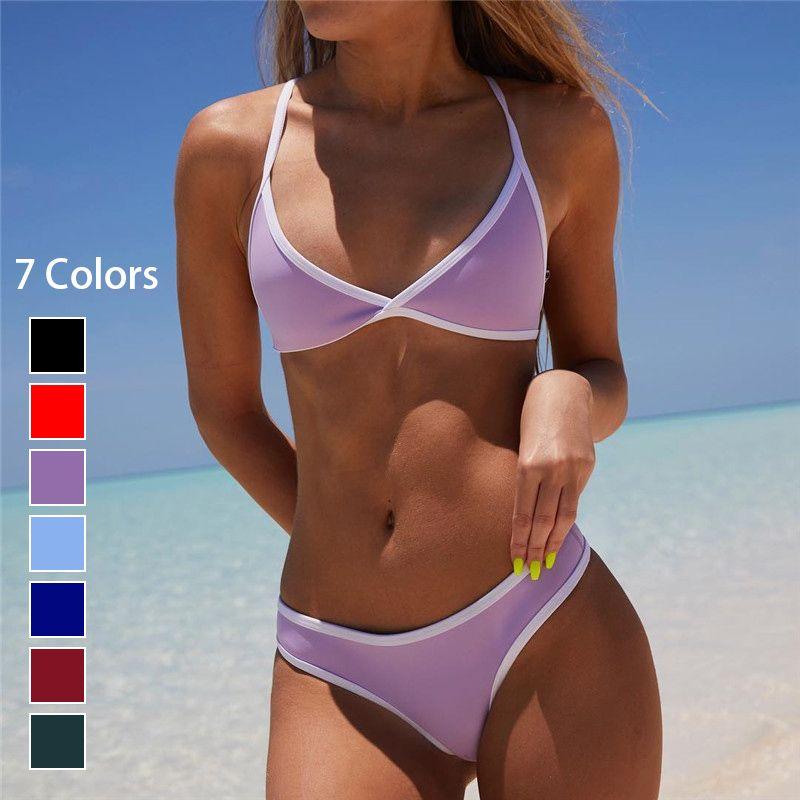 7134503dd4 2019 2018 Candy Color Bikini Set Thong Bikini Brazilian Biquini Micro Mini  Maillot De Bain Plus Size Swimwear Women Bathing Suits XL From  Swimwear2016