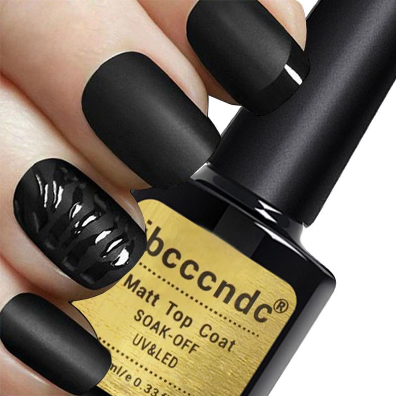Wholesale-IBCCCNDC New Matte Top Coat Nail Gel Polish Soak Off UV ...