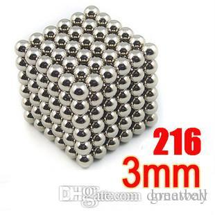 216Pcs 3mm Shapable Magnetic Balls Neo Cube Magic Cube Magnets Puzzle Fidget Toys High quality Anti Stress Cube Kids' Gift with Metal B
