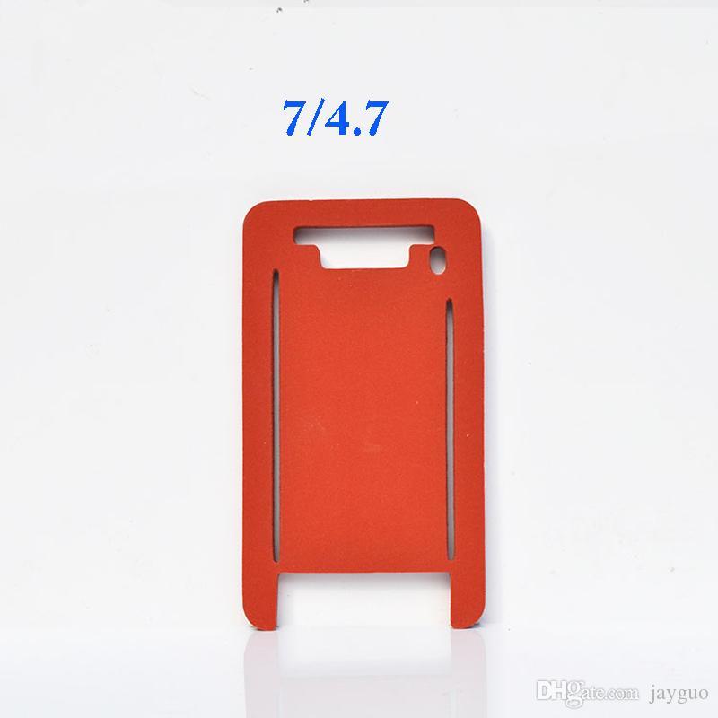 Tapis de silicone A pour le moule de stratification pour iphone 5 5s 5c 6 6s 7 plus verre avant avec cadre machine à plastifier tapis tapis de moule